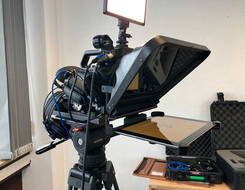 Teleprompter Übertragung Kamera